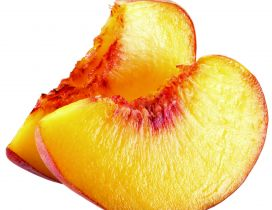 Delicious slices of peaches - summer fruits