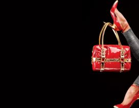 Brands shoes and bags - HD wallpaper
