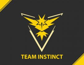 The yellow team from Pokemon GO game - The Instinct team