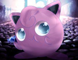 Sweet purple pokemon on the road - catch it