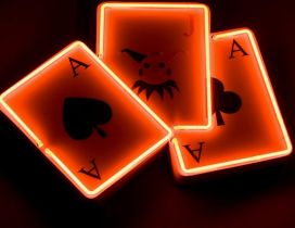 Poker cards lightning - HD wallpaper