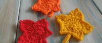 Funny Autumn leaves made from wool