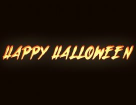 Happy Halloween on a dark background - HD wallpaper