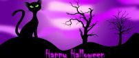 Purple witch night - Happy Halloween