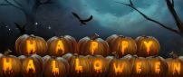 Happy Halloween write on pumpkins - HD wallpaper