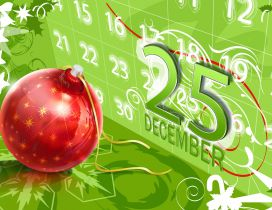 Christmas is here - 25 December Winter holiday