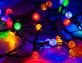 Colorful Christmas lights - Magic moments