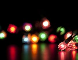 Macro Christmas lights - Magic night of the year