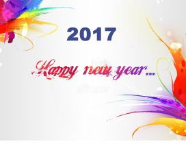 Colorful wallpaper - Happy New Year 2017