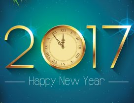 Twelve o'clock at midnight - Happy New Year 2017