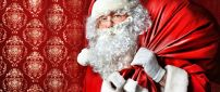 Real Santa Claus and the box gift - Christmas night