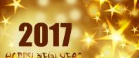 Golden stars for a good year - Happy New Year 2017