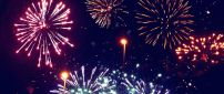 Wonderful fireworks in the night of the year- Happy New Year