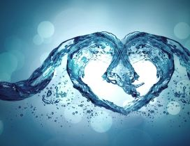 Pure love - Heart of water