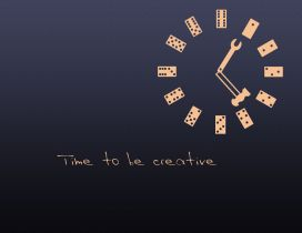 Domino clock - time to be creative