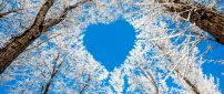 Blue heart on the sky - HD Winter wallpaper