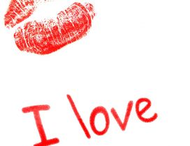 Big red lips - I love Valentines Day