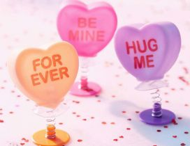 Be mine for ever - Hug me and love me - Happy Valentines Day