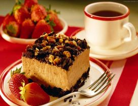 Sweet piece of cake in the morning - Coffee time