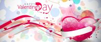 Friendly and colourful wallpaper for Valentines Day