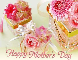 Perfume and flowers - Happy Mother's Day