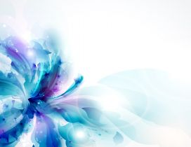 Blue orchid flower - Wonderful digital art design
