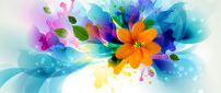 Abstract colourful picture - Orange flower