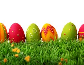 Warm colour on the Easter eggs - Happy Holiday