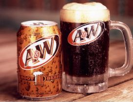 A W delicious Root beer - Fresh drink in summer holiday