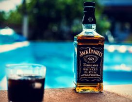 Jack Daniel Whiskey - Summer drink at the pool party