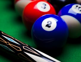 Macro sport wallpaper - Billiard pool game