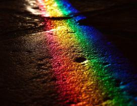 Magic rainbow in the dark night - HD wallpaper
