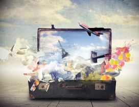 All the world in one suitcase - Holiday time