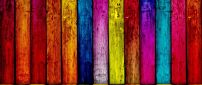 Colorful wood wall - Funny wallpaper
