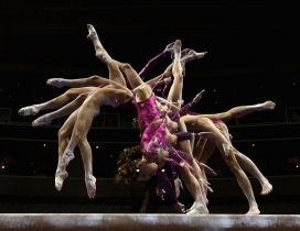 Wonderful gymnastic sport for women - Artistic moment