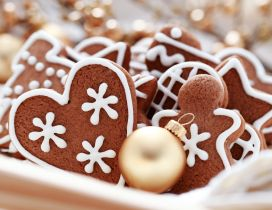 Heart and ginger - Happy Christmas holiday with candies