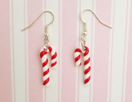 Candy earrings - Christmas time