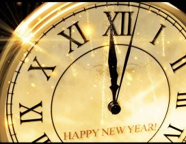 Twelve o clock and a new year is here - Happy 2018