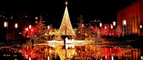 Wonderful Christmas decorations in the city by night -Mirror