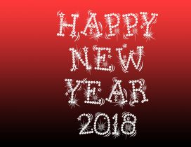 Happy New Year 2018 - Red and dark background