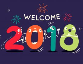 welcome 2018 be a happy and good year