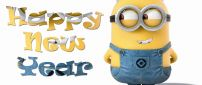 Funny wallpaper with Minion  - Happy New Year 2018