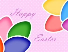 Happy Easter Holiday - Colorful paper eggs
