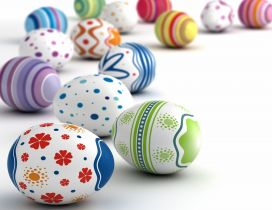 Magic moment for children - Happy Easter eggs