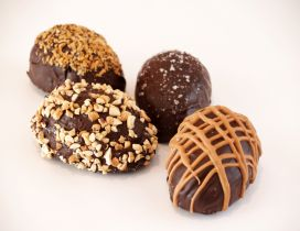 Delicious chocolate Easter eggs - Happy Spring Holiday
