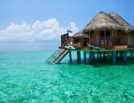 Bungalou in the middle of the ocean - Bali Island holiday