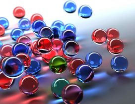 Gummy colorful bubbles - Abstract wallpaper