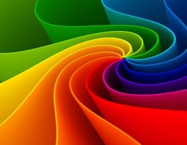 Rainbow paper shapes - HD wonderful wallpaper