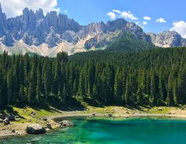 Small mountain lake in Italy - Wonderful nature landscape