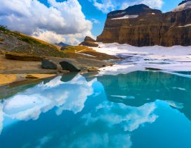 Glacier wonderful Natural Park - Mirror in the lake